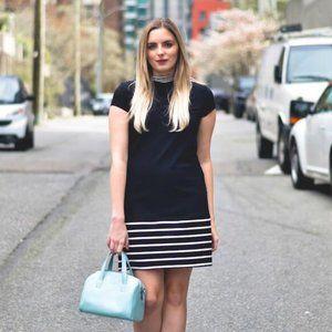 MIIK Natalia mock-neck a-line dress